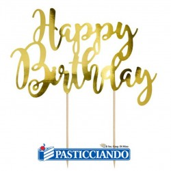 Selling on-line of Happy Birthday oro GRAZIANO