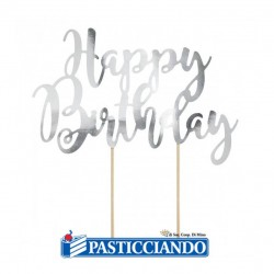 Selling on-line of Happy Birthday argento GRAZIANO