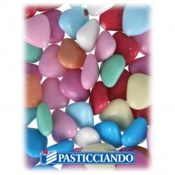 Selling on-line of Cuoricini di cioccolato colorati 50gr GRAZIANO