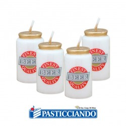 Selling on-line of Candele birra in lattine 4pz Big Party