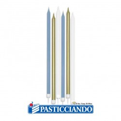 Selling on-line of Candeline Chic celeste oro e bianco 6pz Big Party