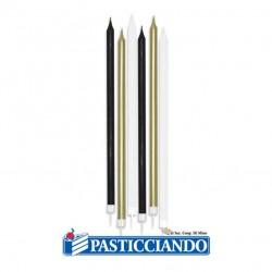 Selling on-line of Candeline prestige nero oro e bianco 6pz Big Party