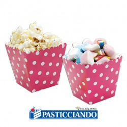Selling on-line of Sweet Box fucsia a pois 6pz Big Party