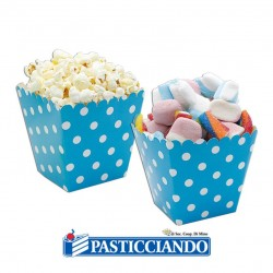 Selling on-line of Sweet Box turchese a pois 6pz Big Party