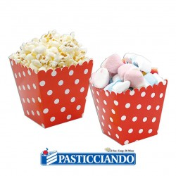 Selling on-line of Sweet Box rossa a pois 6pz Big Party