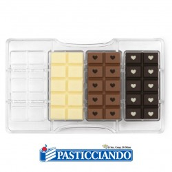 Selling on-line of Stampo per cioccolato tavoletta love 4 cavità