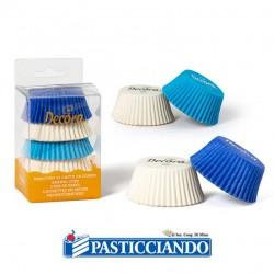 Selling on-line of Pirottini muffin blu celeste bianco 75pz Decora