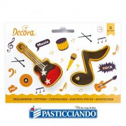 Selling on-line of Tagliapasta nota e chitarra musica 2pz Decora