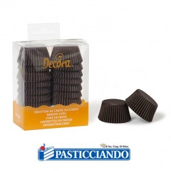 Selling on-line of Pirottini mini muffin marroni Decora