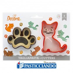 Selling on-line of Tagliapasta gatto e impronta 2pz Decora