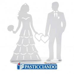 Selling on-line of Sagoma sposi in metallo con cuori Ambra's