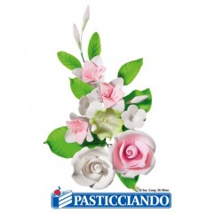 Selling on-line of Ramo roselline bianche e rosa