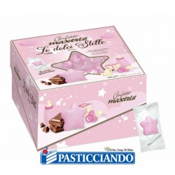 Selling on-line of Confetti le dolci stelle rosa 500gr Maxtris