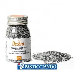 Selling on-line of Perline zucchero argento 100gr Decora