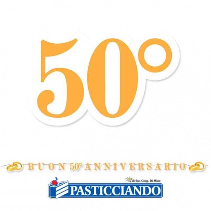 Festone 50° Anniversario 600 x 25 cm - Big Party