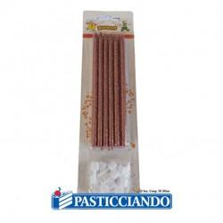 Selling on-line of Candele matite rosa gold glitter 12pz Fruttidoro s.r.l.