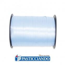 Selling on-line of Nastrino in plastica 5 mm x 500 yards Celeste