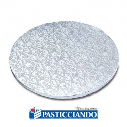Selling on-line of Sottotorta rotondo argento d.40 h1,2 cm Ambra's