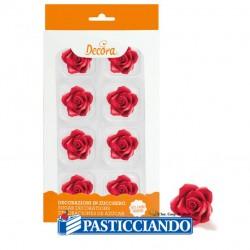 Selling on-line of Rose rosse medie in zucchero 8pz Decora