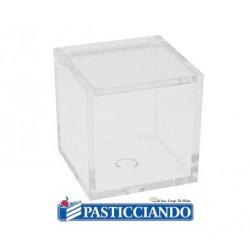 Scatola plexiglass cubo trasparente  in vendita online