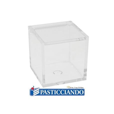 Scatola plexiglass cubo trasparente -