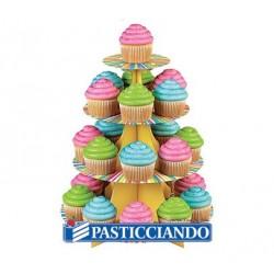 Alzatina cupcake ruota di colori