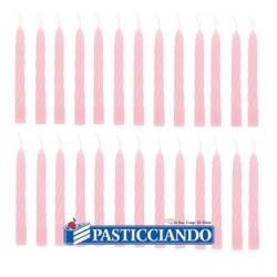 Candeline rosa per torta 100pz  in vendita online