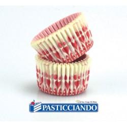 Pirottini mini muffin cuori 288pz Decora in vendita online
