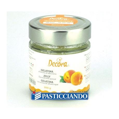 Gelatina all'aroma di albicocca 200gr Decora - Decora