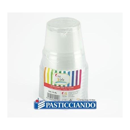 Bicchieri crystal sfumati vari colori in plastica 10pz -