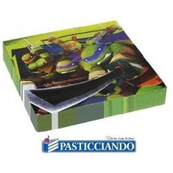 Tovaglioli Tartarughe Ninja 20pz 32,7x32,7 cm