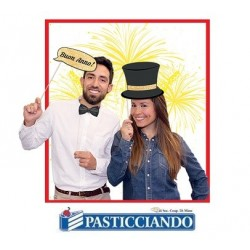 Photo booth divertenti Buon Anno 8pz Big Party