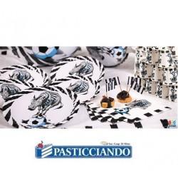 Piatti zebrotta bianconera D.18 Big Party in vendita online