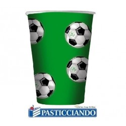 Bicchieri calcio verde 10pz 200cc Big Party
