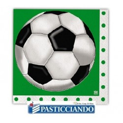 Tovaglioli calcio verde 20pz Big Party