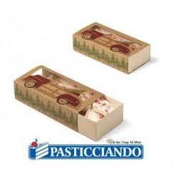 Set 3 scatole porta dolci natalizie con slide Wilton