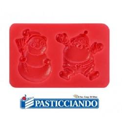 Stampo in silicone natalizio 2 impronte Modecor