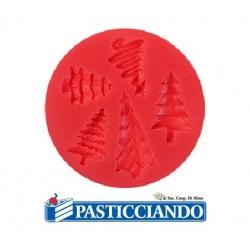Stampo in silicone alberi natalizi 5 impronte Modecor