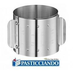 Porzionatore ad anello regolabile in acciaio Graziano