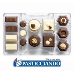 Stampo in policarbonato per cioccolatini 14 cavità Decora