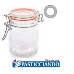 Barattolino ermetico in vetro monoporzione verde/azzurro/arancione varie forme  in vendita online
