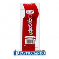 Selling on-line of Forchettine in plastica monocolore Big Party