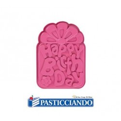 Stampo happy birthday Pavoni in vendita online
