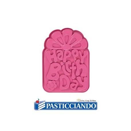 Stampo happy birthday - Pavoni