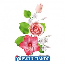Vendita on-line di Ramo rose e ibisco Ambra's