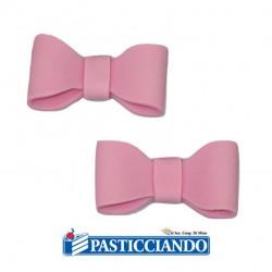 Vendita on-line di Fiocchetti rosa in zucchero Ambra's