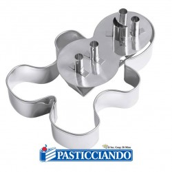 Vendita on-line di Set 2 tagliapasta gingerbread Wilton