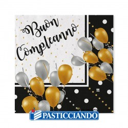 Tovaglioli buon compleanno - Big Party