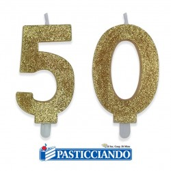 Vendita on-line di Candele 50 oro Big Party