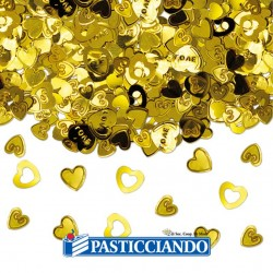 Vendita on-line di Coriandolini cuore oro Big Party